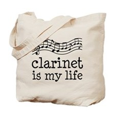 Clarinet is My Life Music Gift Tote Bag