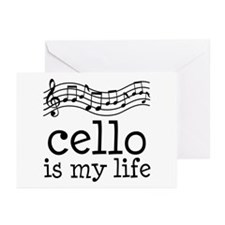 Cello is My Life Music Gift Greeting Cards (Pk of