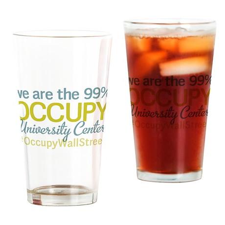 Occupy University Center Drinking Glass