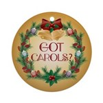 Got Carols Music Christmas Ornament
