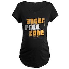 anger free zone Maternity Dark T-Shirt