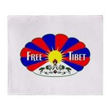 Free Tibet - Human Rights Throw Blanket