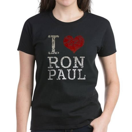 I heart Ron Paul Women's Dark T-Shirt