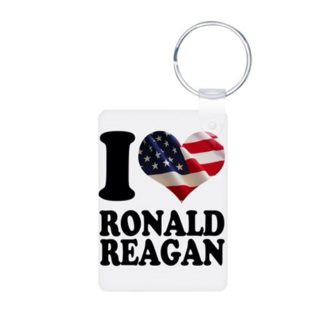 I heart American Flag Ronald Aluminum Photo Keycha