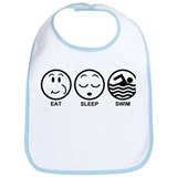 Eat Sleep Swim Bib