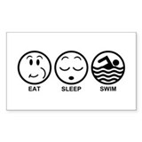 Eat Sleep Swim Decal