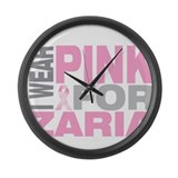 I wear pink for Zaria Large Wall Clock