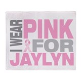 I wear pink for Jaylyn Throw Blanket