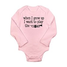 Future Trumpet Player Kids Long Sleeve Infant Body