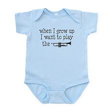 Future Trumpet Player Kids Infant Bodysuit