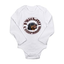 Faithful Rotty Long Sleeve Infant Bodysuit