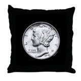 Mercury Dime Throw Pillow