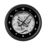 Mercury Dime Large Wall Clock