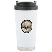 Buffalo Nickel Ceramic Travel Mug