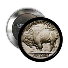 "Buffalo Nickel 2.25"" Button (10 pack)"