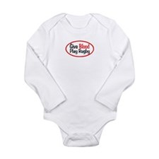 Play Rugby Long Sleeve Infant Bodysuit