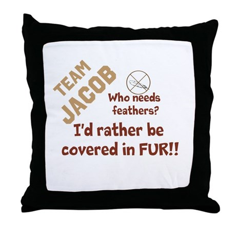 Covered in Fur Throw Pillow