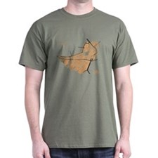 Boston Men's T-Shirt Gold on Military Green