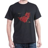 Boston Men's T-Shirt Red on Black