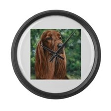Irish Setter Large Wall Clock