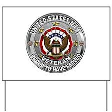 USN Navy Veteran Proud Eagle Yard Sign