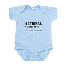 National Sarcasm Society Infant Bodysuit
