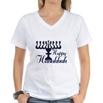 Happy Hanukkah Women's V-Neck T-Shirt