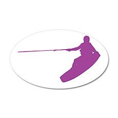 Purple Wakeboard Nose Grab 22x14 Oval Wall Peel