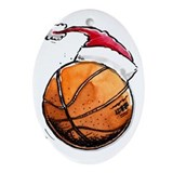 Xmas Basketball Ornament (Oval)