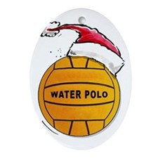 Xmas Water Polo Ornament (Oval)