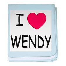 I heart wendy baby blanket