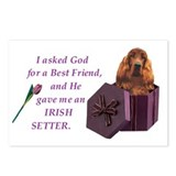 Cute Irish setter Postcards (Package of 8)