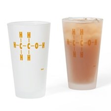 Alcohol Molecule Drinking Glass