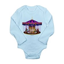 The Pink Carousel Long Sleeve Infant Bodysuit