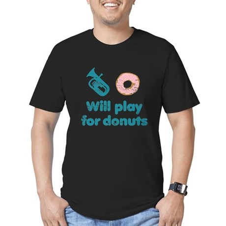 Will Play Baritone for Donuts Men's Fitted T-Shirt