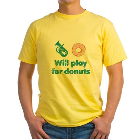 Will Play Baritone for Donuts Yellow T-Shirt