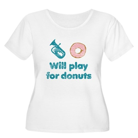 Will Play Baritone for Donuts Women's Plus Size Sc