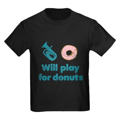 Will Play Baritone for Donuts Kids Dark T-Shirt