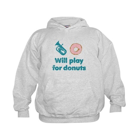 Will Play Baritone for Donuts Kids Hoodie