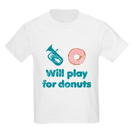 Will Play Baritone for Donuts Kids Light T-Shirt