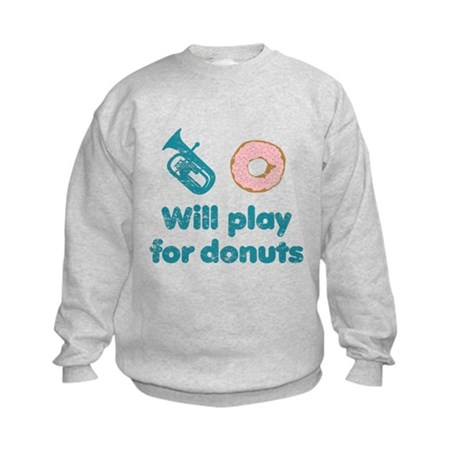 Will Play Baritone for Donuts Kids Sweatshirt