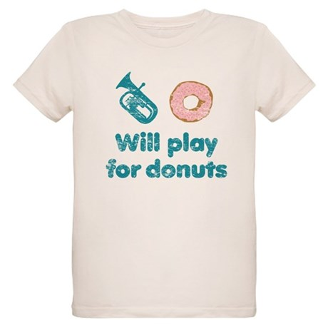 Will Play Baritone for Donuts Organic Kids T-Shirt