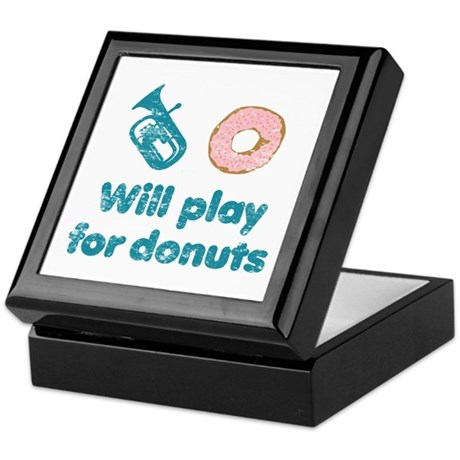 Will Play Baritone for Donuts Keepsake Box