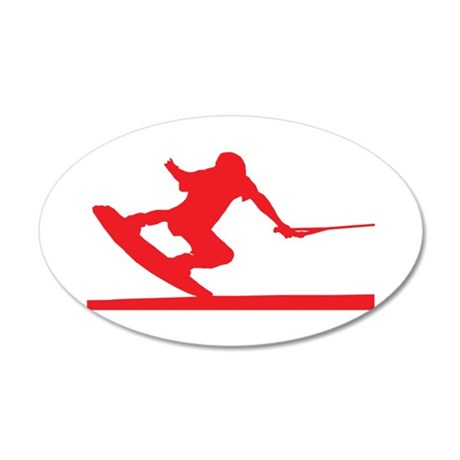Red Wakeboard Nose Press 38.5 x 24.5 Oval Wall Pee