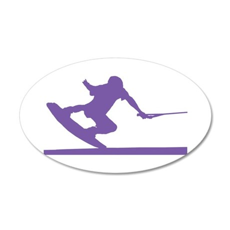 Purple Wakeboard Nose Press 22x14 Oval Wall Peel
