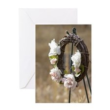 Rose Wreath Greeting Card