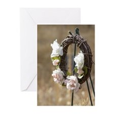 Rose Wreath Greeting Cards (Pk of 10)