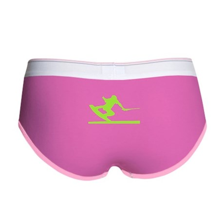 Green Wakeboard Nose Press Women's Boy Brief