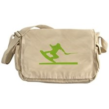 Green Wakeboard Nose Press Messenger Bag