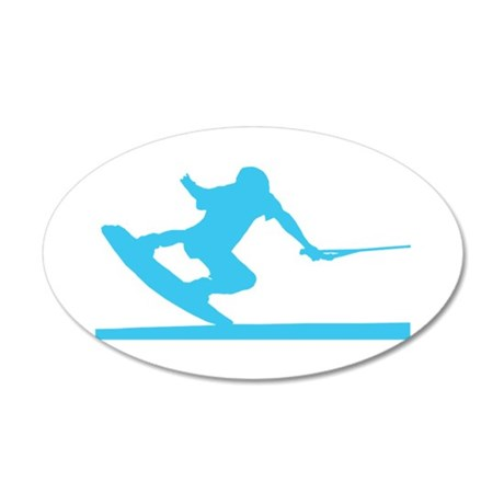 Blue Wakeboard Nose Press 38.5 x 24.5 Oval Wall Pe